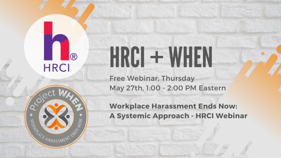HRCI Webinar on Workplace Harassment
